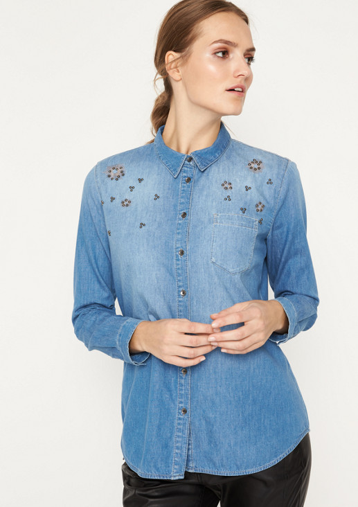 5287952d78 ... Classic denim shirt in a vintage look from comma ...