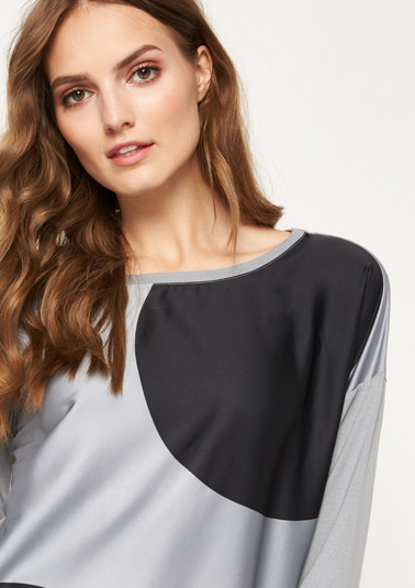 Top in blended fabric from comma