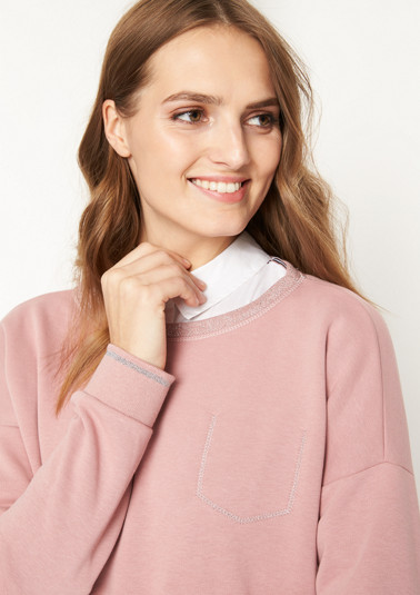 Sweatshirt with a mock breast pocket from comma