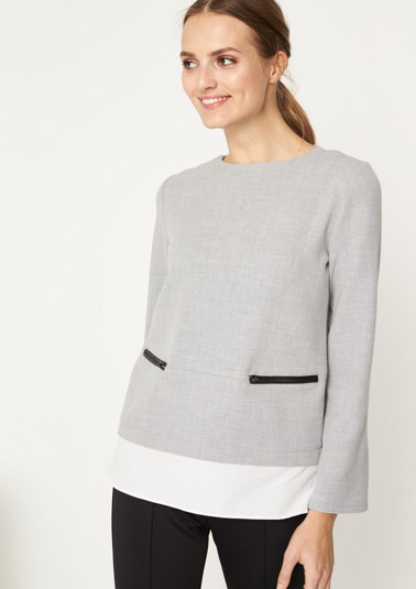 Sweatshirt in a layered look from comma
