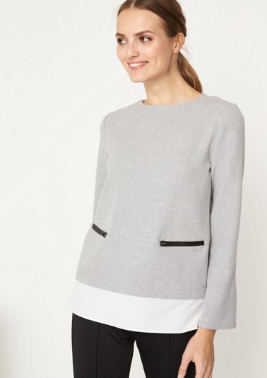 Sweatshirt im Lagenlook