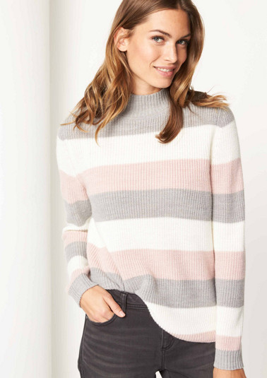 Jumper with block stripes from comma