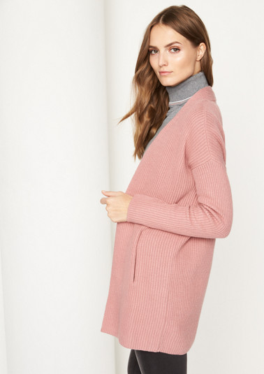 Chunky knit cardigan in a ribbed look from comma