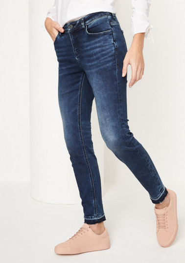 Cool jeans with a vintage finish from comma