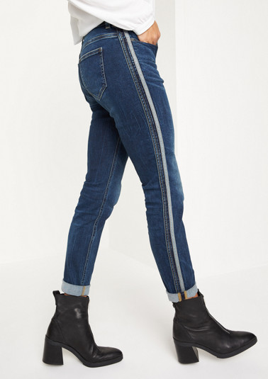 Vintage-style jeans with side stripes from comma