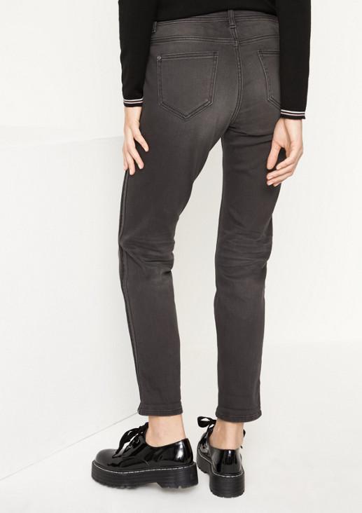 Jeans in Used-Optik mit Seitenstreifen