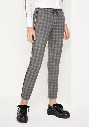 Sportliche Loungepants mit Glencheck-Muster