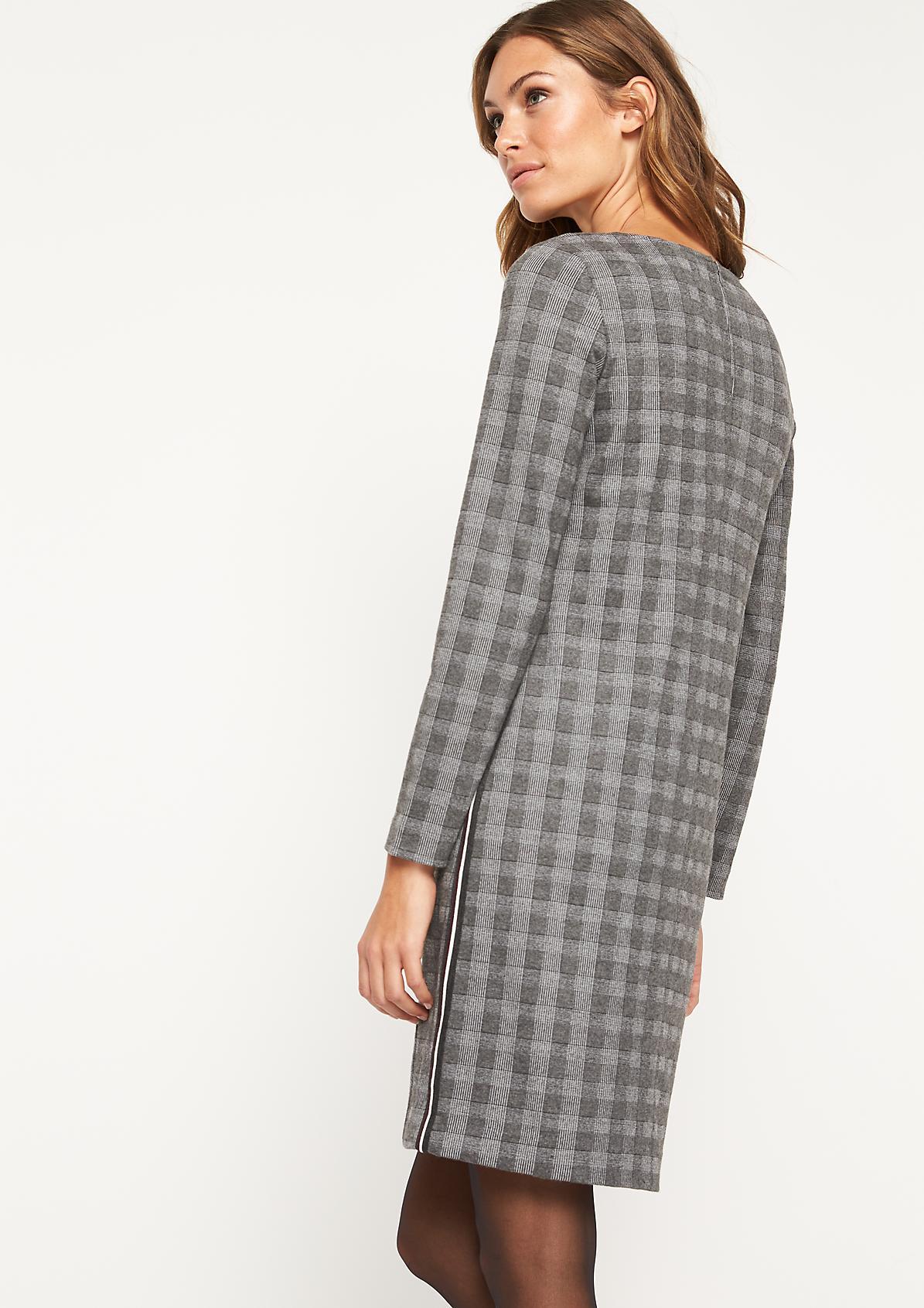 Businesskleid mit klassischem Glencheck-Muster