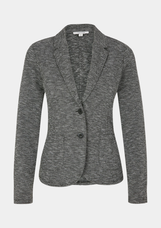 Business blazer in a mottled black & white look from comma