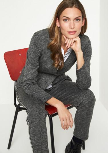 Businessblazer in Salz & Pfeffer-Optik