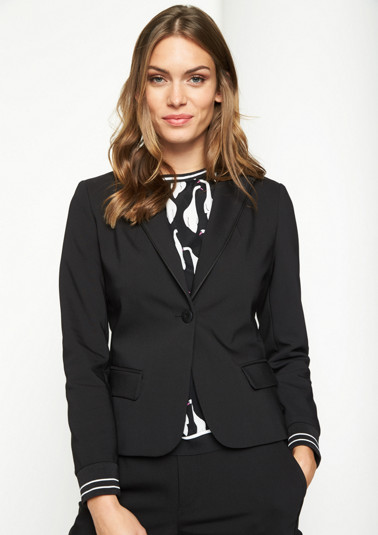 Elegant business blazer with a dobby pattern from comma
