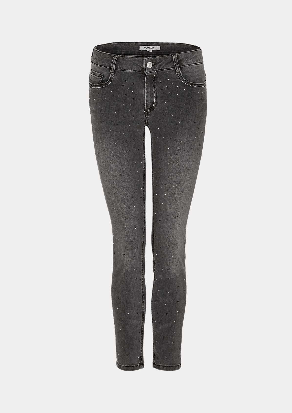 Jeans with gemstone embellishments from comma