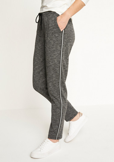 Casual, sporty trousers with a drawstring from comma