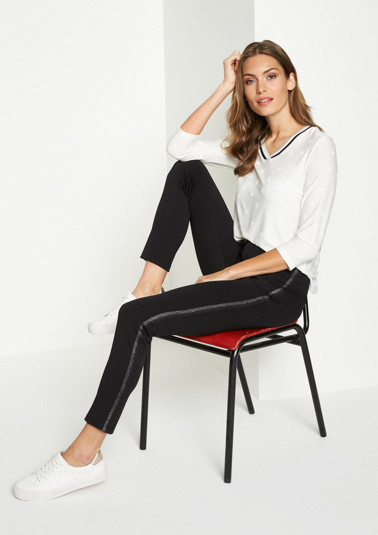 Business trousers with side stripes from comma
