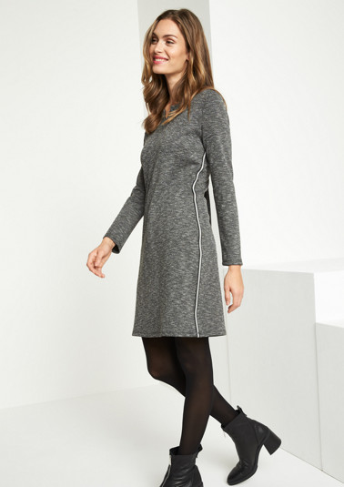 Soft melange jersey dress from comma