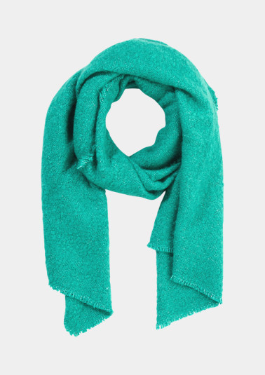 Soft bouclé scarf with fringing from comma