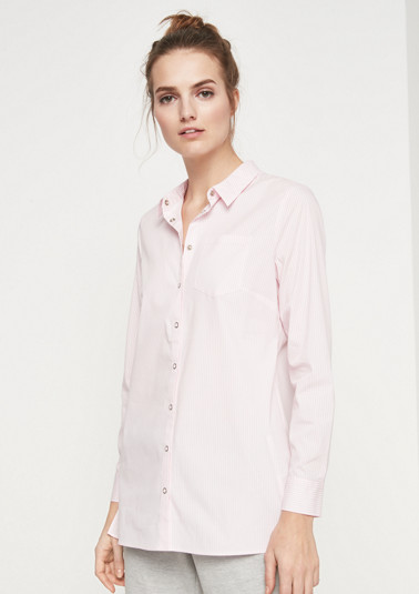 Business blouse with a fine striped pattern from comma