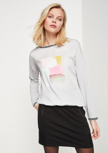 Long sleeve top in a sophisticated mix of materials from comma