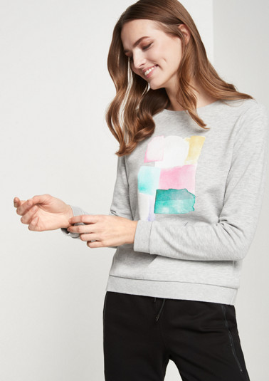 Cosy sweatshirt with front print from comma