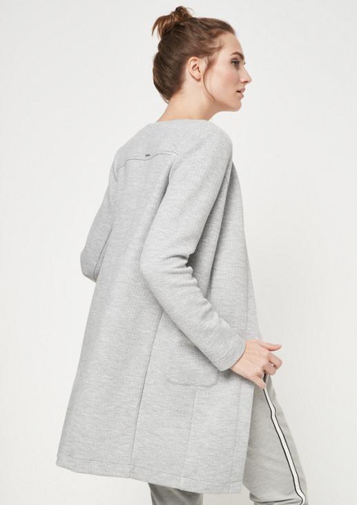 Weicher Mantel mit Dobbymuster