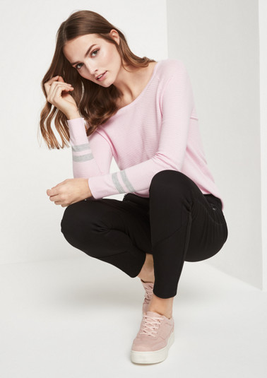 Lightweight fine knit jumper with ribbed pattern from comma