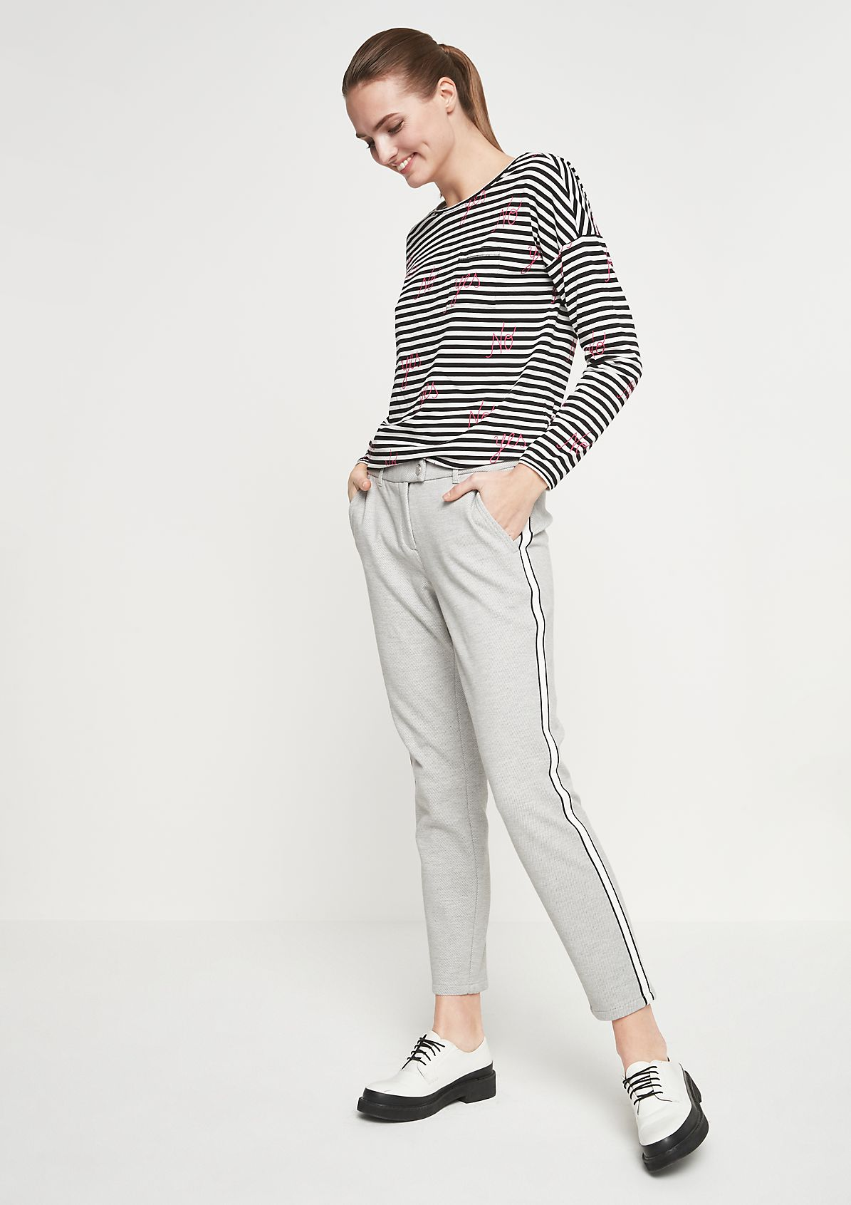 Elegant business trousers with side stripes from comma