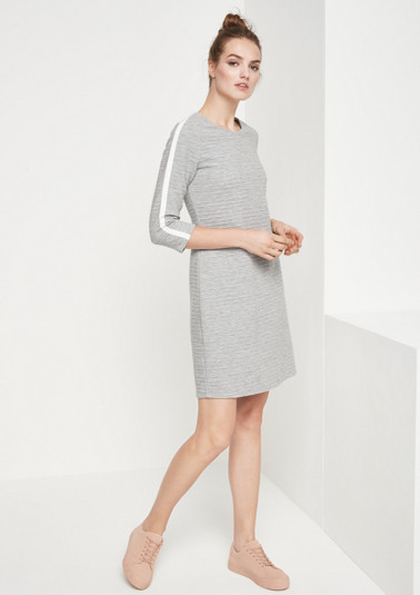 Jersey dress with 3/4-length sleeves and an all-over textured pattern from comma