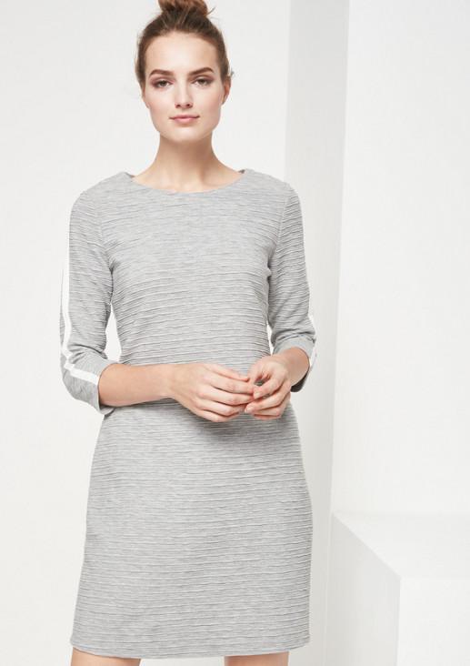 3/4-Arm Jerseykleid mit Strukturmuster