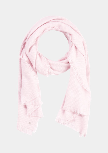 Soft knitted scarf with decorative pattern from comma