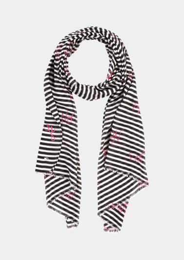 Scarf with fine striped pattern from comma