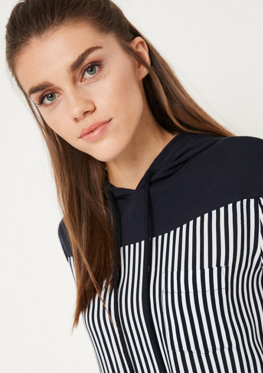 Casual long sleeve blouse in a striped look from comma