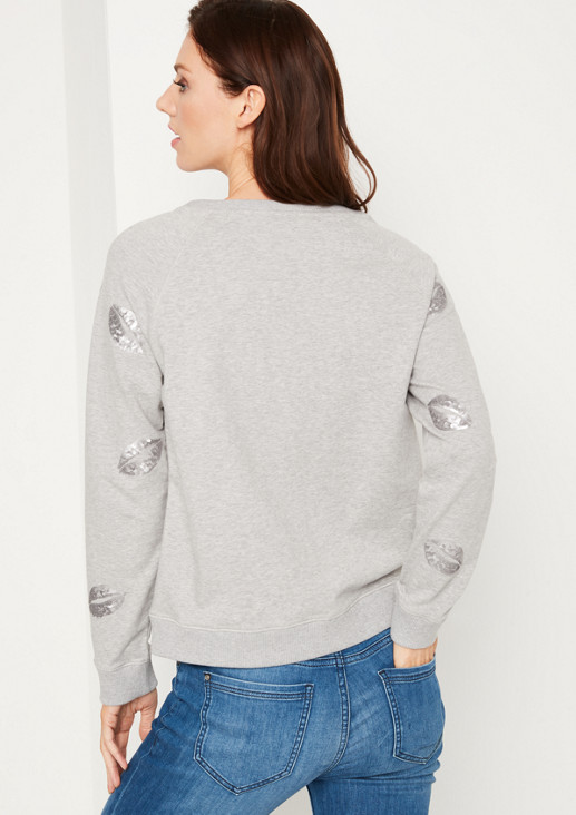 Weicher Sweater mit Paillettenverzierungen