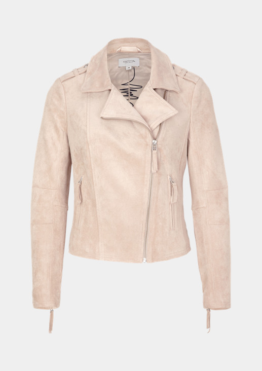 Faux suede biker jacket from comma