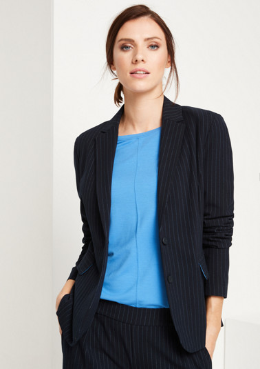 Business blazer with an elegant pinstripe pattern from comma