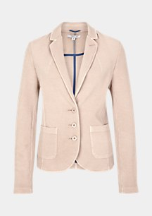 Sporty blazer with a waffle pattern from comma