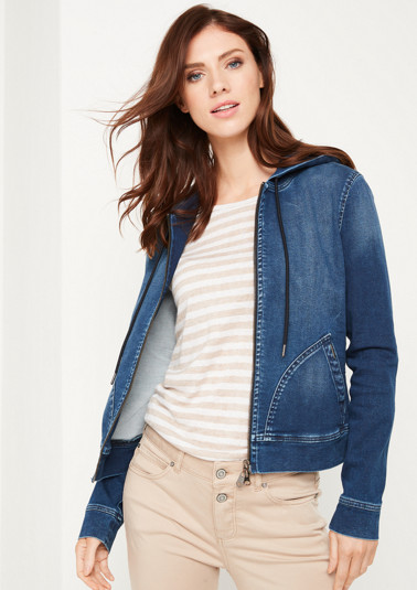 Hooded jacket in a denim look from comma