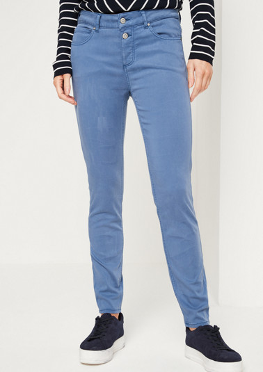 Lightweight satin trousers with an exciting wash from comma