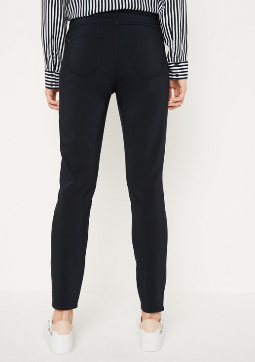 Casual trousers with zip details from comma