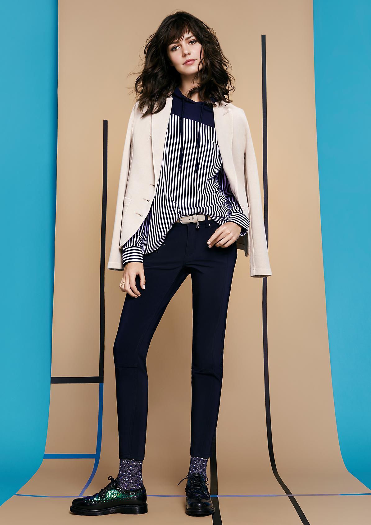 Pantalon casual décontracté à détails zippés de Comma