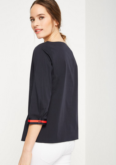 Lightweight blouse with stripe embellishments from comma