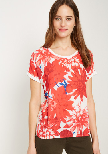 Short sleeve top with colourful front print from comma