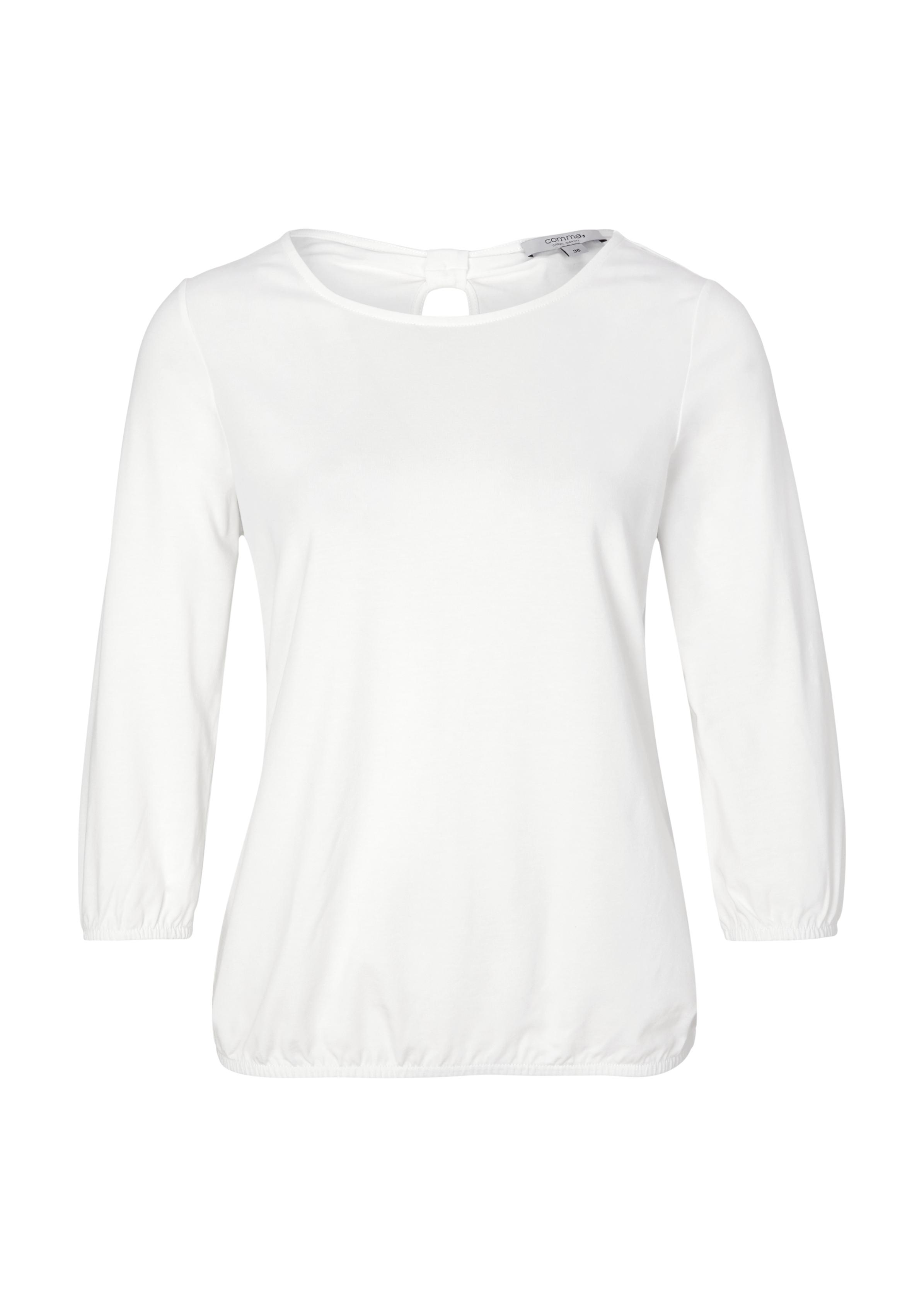 3/4-Arm Shirt | Bekleidung > Shirts > Sonstige Shirts | Weiß | 46% modal -  46% baumwolle -  8% elasthan | comma