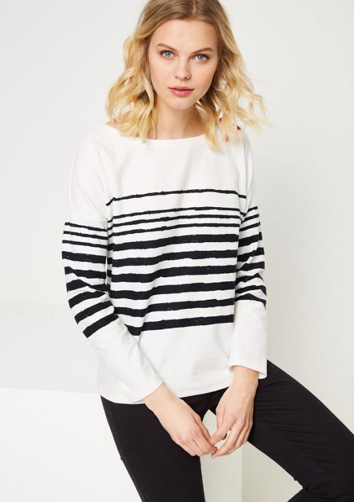 Longsleeve-Sweater im Streifenlook