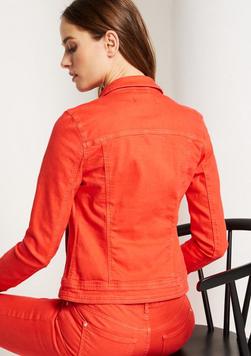Coloured Denim-Jeansjacke mit Brusttaschen