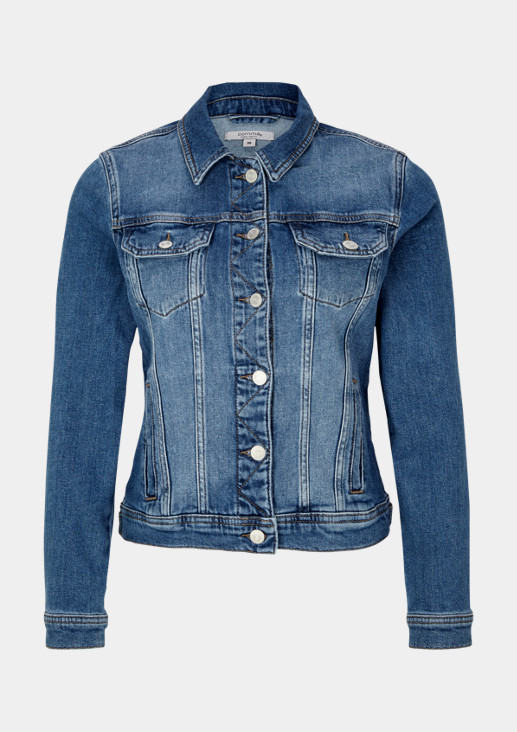 Casual denim jacket with a back print from comma