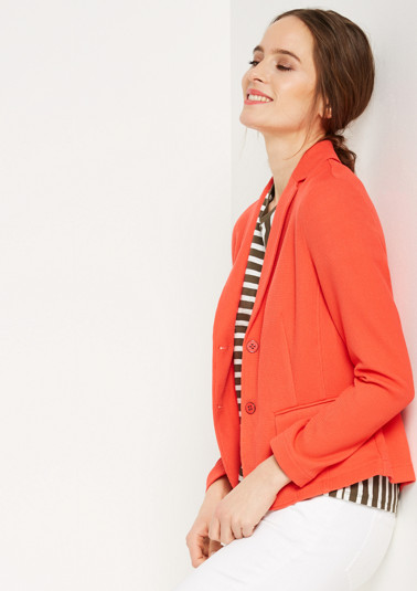 Classic blazer with a fine piqué textured pattern from comma