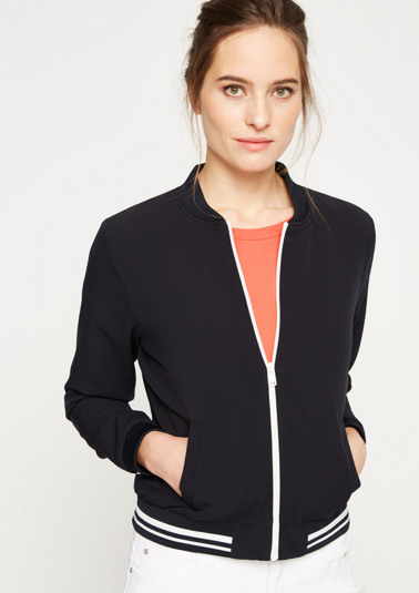 Sporty bomber jacket with stripe embellishments from comma