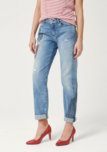 Boyfriend jeans in a rugged vintage look from comma