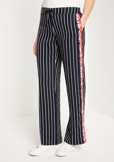 Lounge trousers with elegant pinstripes from comma
