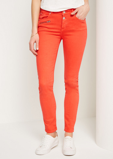 Colour jeans with zip pocket from comma